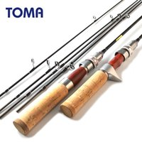 Wholesale l lures resale online - TOMA Fishing Rod Carbon Spinning Rod Casting Rosewood Design m Power UL L Sections Ultralight Lure Fishing Tackle