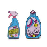 lustige stifte großhandel-1/2 Stücke Neue Ankunft Pins Und Broschen entferner XX Repellent Lustige Waschmittel Spray Pin Set Abzeichen Emaille Pin
