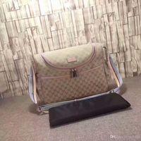 bebek çantası modası toptan satış-Moda Mumya Tote Çanta Çok Fonksiyonlu Annelik Bebek Bakımı Bezi Çanta Jakarlı Nappy Hobos Anne için Çanta 2019 Yeni Anne