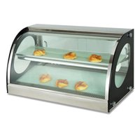 Wholesale insulation prices online - LOW PRICE Counter Top Warming Display Showcase Commercial Cooked food Heat Preservation Cabinet Electric Food Insulation Display Case
