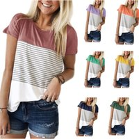 Wholesale nurses clothes resale online - 13 Colors Maternity Striped Tees Nursing Tops Short Sleeve Round Neck Blouses Shirts Breastfeeding T Shirt Clothes Casual Mom Clothings M844