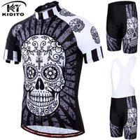 trajes de calavera al por mayor-KIDITOKT 2019 Divertido Jersey de Ciclismo Conjunto Ropa de Ciclismo de Verano Traje Skull MTB Mountain Bike Ropa Racing Ropa de Bicicleta Traje
