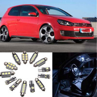 Wholesale vw golf mk6 led for sale - Group buy 13Pcs White Car Interior LED Light Bulbs Kit for VW Golf MK6 GTI