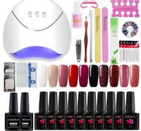 Wholesale tool sets for sale resale online - Hot Sale Manicure Set For Manicure Gel Nail Polish Nail Art Sets W Nail Dryer Tools