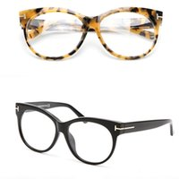 Wholesale big spectacles frames resale online - Fashion Optical Frames Glasses Brand Men Women Big Eyeglasses Frames TF0330 Vintage Plank Spectacle Frames Myopia Eyewear with Clear Lens