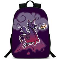 Wholesale cute girls hot photos resale online - Cute backpack Fire alpaca game daypack Lamini dragon schoolbag Hot photo print rucksack Sport school bag Outdoor day pack