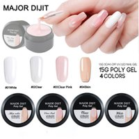 Wholesale jelly glasses resale online - New Arrival ML Crystal Polygel Camouflage Colors Fiber Glass Hard Jelly Quick Building Nail Extend Poly Gel