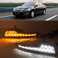 Pair Chrome Front Fog Lights Lamp Cover Trim For Nissan Teana Altima 2013-2015