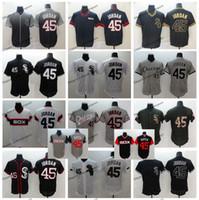 camuflaje vintage al por mayor-Vintage Chicago 45 Michael Jodan White Sox camisetas de béisbol 2018 Memorial Day Camo negro Mens fin de semana camisas cosidas holandesas
