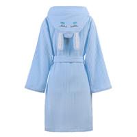 kapüşonlu pamuklu cüppe çocuklar toptan satış-Çocuk Bornoz Çocuklar Erkek Kız Kapüşonlu Havlu Elbiseler Çocuk Pijama Bornoz Erkek Bornoz Peignoir Pamuk Pijama Giyim