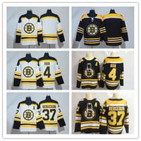 vente de chandails de hockey vierges achat en gros de-vente chaude 37 Patrice Jersey 2018 Nouveau Style Bobby Orr Hockey Jerseys Noir Blanc Homme Blanc