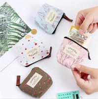 Porte vent jardin toile colorée porte-monnaie nouveau changement poche  monnaie organisateur clé petit portefeuille portefeuilles sac à cosmétiques