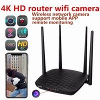 camara de video roja al por mayor-HD 4K wifi cámara de red inalámbrica enrutador cámara de red grabadora de video para el hogar y la oficina soporte de visión nocturna teléfono móvil monitor remoto