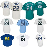 ingrosso abbigliamento da baseball per uomo-Seattle Mariners Maglie da baseball 22 Robinson Cano Uomo Abbigliamento sportivo Abbigliamento sportivo Ricamo boutique In via preferenziale L'alta qualità