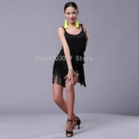 ingrosso nuovi modelli di abbigliamento per le ragazze-2019 nuovi modelli Ragazze Kids Adult Modern Ballroom Latin Dance Dress For Girls Nappa Salsa Tango Dance Dress Nero