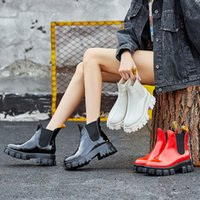 Wholesale bright boots for sale - Group buy Autumn And Winter New Patent Leather Short Boots Women s Thick Women s Shoes Tide Leather Boots Bright Leather Winter Women s Boots
