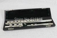 качественные флейты оптовых-Pearl PF-525 E 16 ключей отверстия закрыты c Tune Flute высокое качество Новый Мельхиор посеребренные флейта музыкальный инструмент с футляром