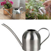 Wholesale flower water sprinkler resale online - Small Watering Flowers Sprinklers Stainless Steel Horticulture Potted Plant Water Cans Long Mouth Indoor Waters Kettles New Arrival sh L1