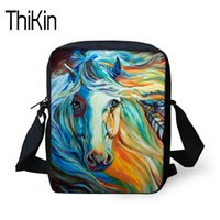 Wholesale new cell phones for girls resale online - THIKIN Mini Crossbody Bag Crazy Horse Prints Casual Shoulder Bag for Women Men Messenger Teenage Girls Beach Tote New