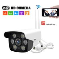 ip66 wifi kamera großhandel-Drahtlose IP-Kamera 1080P HD Sicherheitsfernmonitor Digitalzoom-Kamera im Freien IR-Nachtsicht Wifi Funktions-IP66 wasserdicht