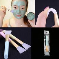 maskenbürstenwerkzeug großhandel-Frauen Gesichtsmaske Silikon Pinsel Gesicht Augen Make-Up Kosmetische Schönheit Weiche Concealer Pinsel Makeup Tools RRA688
