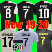 xxl 18 venda por atacado-Tailand Sports RONALDO juventus 2019 2020 camisa de futebol DYBALA 18 19 20 camisa de futebol kit Top fãs versão do jogador homens mulheres crianças campeão liga Serie A