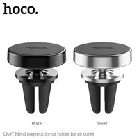 metallmagnetständer großhandel-Hoco CA47 Metall Magnetische Autohalterung Telefonhalter Für MOTO G7 / G7Plus Oneplus 7 Xiaomi 9 Magnet Mini Air Vent Outlet Telefonhalterung Ständer Halter
