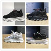 hafif hafif ayakkabılar toptan satış-2019 Medusa ayakkabı Erkek Bayan Spor Eğitmenler Rahat Ayakkabılar Medusa Zincir Reaksiyon Sneakers Sneakers Hafif LUX