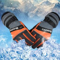 Wholesale ski gloves purple resale online - Winter Outdoor Fun Sports Heated Glove Windproof Waterproof Ski Cycling Warm Riding Motorcycle Bicycle Gloves ZZA569