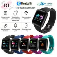 nouvelles montres intelligentes achat en gros de-New Sports ID116 plus montre intelligente affichage couleur avec l'activité de moniteur de fréquence cardiaque Tracker appareil portable intelligent