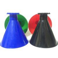 Wholesale car snow scraper for sale - Group buy Plastic Cars Windshield Snow Cleaning Funnel Cone Shaped Scrape A Round Ice Scraper Portable Glass Snows Remover hr hh