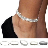 Wholesale stretch jewelry anklet resale online - iMucci Elastic Anklet Stretch Anklets Women Boho Crystal Bracelet Cheville Barefoot Sandals Pulseras Tobilleras Foot Jewelry