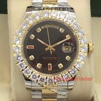 relojes de pulsera de hielo al por mayor-Rojo Mecánico Automático Oro Lujo Diseñador Fecha de vencimiento Diamante helado Hombre Relojes hombres Montre Relojes Relojes de pulsera