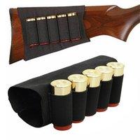 airsoft shells оптовых-Открытый Airsoft Rifle Shotgun Корпуса 5 Butt картриджи Holder Stock Shell Упругие патрон для охоты Комплекты Боеприпасов