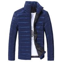 xxl mens winter coat venda por atacado-NOVA Moda Mens sports Stand Algodão Com Zíper Jaqueta de Inverno Quente Casaco Grosso Caminhadas Jaquetas Freeship # 4n25