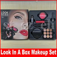 Wholesale fix box resale online - Look In A Box in1 Be A Little Naughty Makeup Set Fix Powder Eyeshadow Mascara Blush Lipstick Eyeliner Lip Gloss