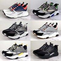 europa zapatos deportivos al por mayor-2019 Nueva 3D zapatos de lona y piel de becerro reflectantes deportivos de deportes de la moda de Europa de moda los zapatos corrientes de los hombres técnicos B22 35-45