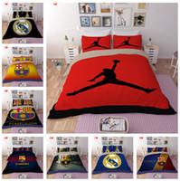 conjunto de cubierta multicolor al por mayor-3 piezas de juegos de cama de barcelona (1 funda de almohada 2 funda de almohada) Poliéster suave y ecológica cubierta de cama Doble completa Queen King Size Bedding Supplies