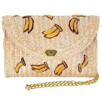 häkeln crossbody beutel großhandel-FGGS-Straw Crossbody Crochet Umhängetasche Quaste Fringe Fashion Clutch Banana