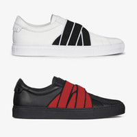 Wholesale knot leather resale online - NEW designer sneakers G webbing white leather sneaker paris signature and knots trainers for men women size