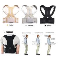 therapie zurück klammer unterstützung großhandel-Magnetfeldtherapie Körperhaltung Korrektor Brace Schulter Rückenstützgürtel für Männer Frauen Hosenträger Unterstützt Gürtel Schulterhaltung