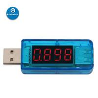 usb güç kaynağı voltajı toptan satış-PHONEFIX USB Portu Çıkış Akımı ve Çıkış gerilimi Test Cihazı Dedektörü ile LCD Ekran Mobil Güç Kaynağı Şarj Cihazı Ölçer