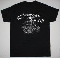 neue wellen t-shirts großhandel-Cocteau Twins ETHEREAL WAVE GOTHIC ROCK THIS Todspule NEW BLACK T-SHIRT neue Art und Weise Mens schließen Hülsen-T-Shirt aus Baumwolle T Shirts