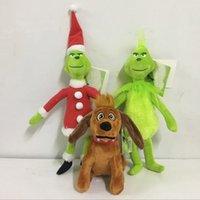 figuras adultas venda por atacado-Filme O Grinch Plush Toys Stuffed Plush Dolls New Natal Verde Grinch Dog Figura Brinquedos Macios Presentes de Natal Para Crianças Adulto AN2235