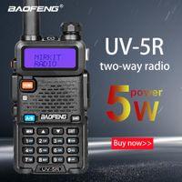 uv5r walkie venda por atacado-Baofeng UV-5R walkie talkie dois sentidos versão de actualização de rádio cb Baofeng uv5r 128CH 5W VHF UHF 136-174MHz 400-520Mhz