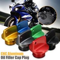 yamaha yağı toptan satış-CNC Alüminyum Yağ Dolum Kapağı Tak Yarış Motor Tankı Kapaklar Için Kapak Ducati / Yamaha / Kawasaki / Triumph