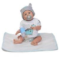 erkek çocuk moda bebek oyuncakları toptan satış-Çocuklar Yumuşak Silikon Gerçekçi Giysiler Ile Çocuk Yeniden Doğmuş Bebek Bebek Moda Çocuk Oyuncakları Bebek Bebek