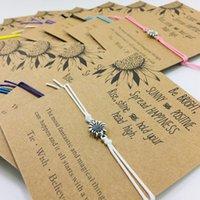 ingrosso braccialetti della boemia-16 braccialetti di girasole di colore Regali fatti a mano Braccialetti d'argento per amico Damigella d'onore Regalo di nozze Festa di compleanno Braccialetto più economico della Boemia