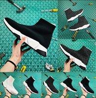 baskets triple noir pour femme achat en gros de-2020 plate-forme triple de luxe Paris Chaussette Chaussures Speed Formateurs Noir Sandales Chaussures pour homme femme Oero femmes Bottes Baskets Chaussures Designer