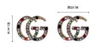 brincos lustre hipoalergênico venda por atacado-Nova marca designer stud 2018luxury2 G letter2813 brincos jóias de ouro, prata, presentes de casamento das mulheres de ouro frete grátis